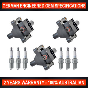 Set 6x NGK Spark Plugs & 3x Ignition Coil for Ssangyong Korando Rexton RX320 i6