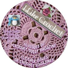 CROCHET MAGAZINES - 56 ISSUES - PDF FILES ON DVD - GREAT IDEAS, INSTRUCTIONS...