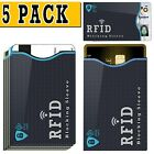 (5 PACK) RFID Blocking Credit Card Holder Case Safety Sleeve Protector