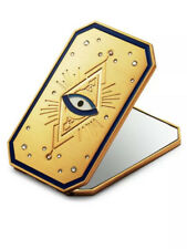 Swarovski Stunning Tarot Card Inspired design Pocket Mirror New Gold tone