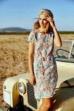 New Esmara Ladies Linen Blend Floral Print Dress Size 16 UK/ 42 EUR