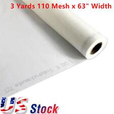 "US Stock 3 Yards 110 Mesh x 63"" Width - White Silk Screen Printing Fabric"