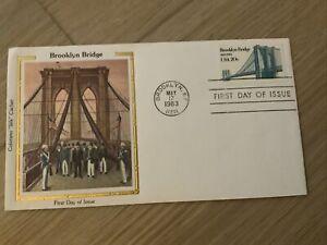"""2041 Brooklyn Bridge, Colorano """"Silk""""Cachet FDC"""