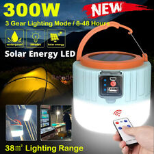 Solar Camping LED Lamp USB Rechargeable Tent Light Outdoor Hiking Remote Lantern