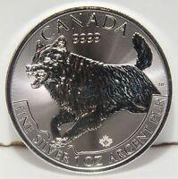 2018 Canada Wolf .9999 Silver $5 Coin - 1 oz Troy - Predator Series - JY458