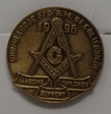 Vintage 1996 Masonic Pin - Masons Children Support - California