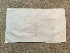 New listing vintage linen tablecloth offwhite. 26 3/4 X 15 1/4