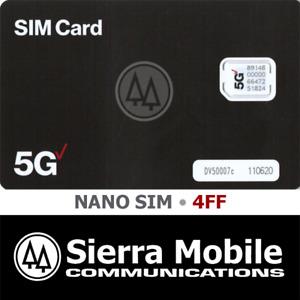 VERIZON 5G SA NANO SIM 4FF • CDMA 5G LTE (SA NETWORK)  • WITH TRACKING • NEW
