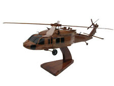 UH-60 UH-60M Army Blackhawk Helicopter Upturned Exhaust Wood Wooden Mike Model
