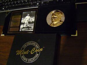 HIGHLAND MINT BABE RUTH MAGNUM 4 Troy Oz .999 SILVER, GOLD, 2-TONE ORIGINAL BOX
