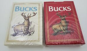 Lot of 2 Vintage 1990 Bucks Playing Cards Philip Morris Tobaccania New Sealed