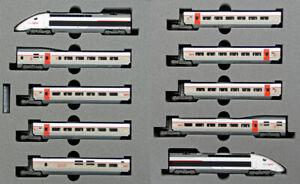 Kato 101325 SNCF TGV Duplex Lyria N Gauge Electric Passenger Train Set NIB