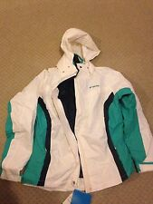 NEW NWT women's Columbia interchange parka jacket coat, 3-in-1 White Large L