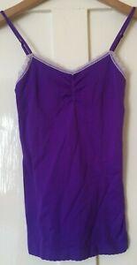NEW Victoria Secrets Purple Slip Night Dress XS TP UK 6 Petite