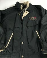 Lake Laurel Jacket VTG 90s Mens XL Lined Coat Windbreaker Kentucky Vented Black