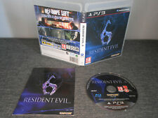 Resident Evil 6 Playstation 3 PS3 Complete with manual VGC