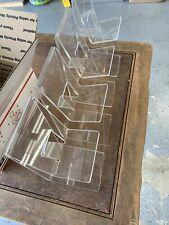 4 Piece Lot Of Acrylic Display Pieces Shoe Display Pamphlet Holders
