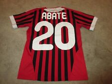 A.C. MIILAN ADIDAS CLIMA COOL ABATE SOCCER JERSEY YOUTH SIZE MEDIUM