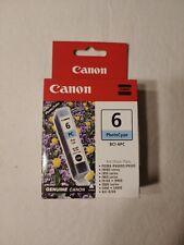 Canon BCI-6PC Photo Cyan Ink Cartridge GENUINE NEW**US Shipped**