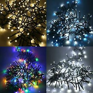 240 LED 13.1m Multi Action Cluster Lights with Timer & Memory Xmas Festive Party