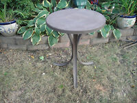 Antique Wrought Iron Bistro Table Industrial Table Machine Shop