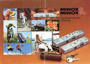 MINOX Kamera Prospekt Minox C / BL Broschüre Reklame von 1976 (Y841