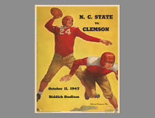 NC STATE WOLFPACK vs. Clemson 1947 Vintage NCAA Program Cover POSTER Reprint