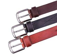 FV Men's Casual Jean Belt Soft Italian Leather 1.5'' wide