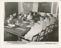 WWII 1945 US Army, Japanese Surrender Photo Manila conference room