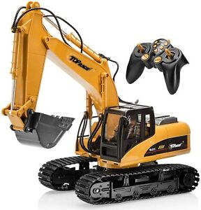 15 Channel Full Functional Professional RC Excavator Battery Powered Remote