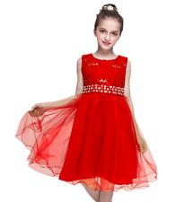 Gorgeous Wedding Flower Girl's Sequined Shining  Crystal Waist Evening Dress up