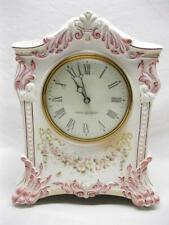Apache Royal Bonn China Porcelain Case Clock Old Vintage Antique Ansonia