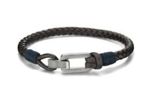 Tommy Hilfiger Jewellery Gents Brown Leather Bracelet Brand New Boxed And Sealed