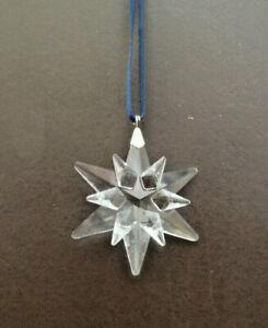 2005 Swarovski Small Star Snowflake Christmas Ornament