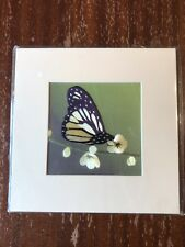 China Embroidery Art Inc Handmade Silk Royal Butterfly Black Yellow Matted Paint