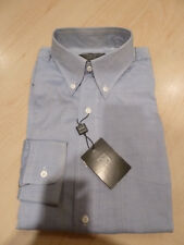 NEW $265 IKE BEHAR Mens Dress SHIRT 15.5 35 Blue Made in CANADA Cotton BC BD