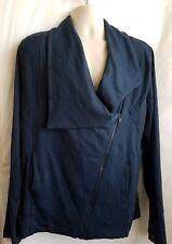 By Bordeaux Mens Jacket Sweater Lounge Full Zip Fashion Design Sz XL Blue E11