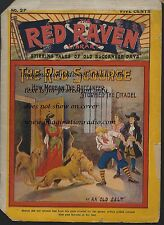 RED RAVEN LIBRARY #27  COVER DIME NOVEL STORY PAPER OLD WEST