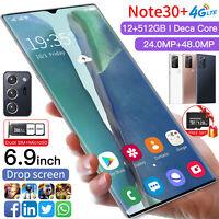 "6.9"" Fingerprint Unlock Android 10.0 Dual SIM 12+512GB&128GB TF Card SmartPhone"