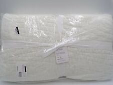 Pottery Barn Belgian Flax Linen Handcrafted Quilt King / Cal Classic Ivory 9743A