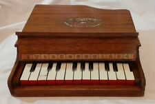 More details for rare antique blue ribbon wooden grand baby piano