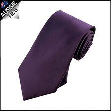 BOYS GRAPE EGGPLANT TIE necktie wedding kids children's aubergine purple