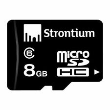 Strontium 8GB MicroSDHC Memory Card class 6 micro sdhc + VAT bill + wrnty