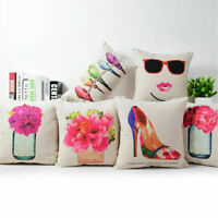 18inch Abstract Art Cotton Linen Pillow Case Sofa Bed Home Car Cushion Cover