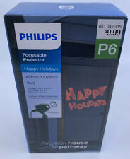 PHILIPS RED Happy Holidays Indoor/Outdoor Focusable Projector - Christmas Lights