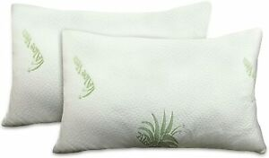 Aloe Vera Pillow Cases Natural Cool And Soft white Hypoallergenic 2x Protector.