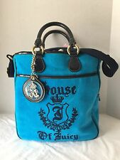 NWT Juicy Couture Girls Bright Blue Velvet Tote