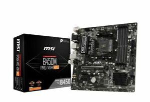 MSI B450M PRO-VDH MAX mATX Motherboard for AMD AM4 CPUs