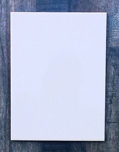 "15 x 20cm (8""x6"") Ceramic plain flat gloss white wall tiles SAMPLE / LOOSE"