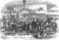 London. Islington Horse show prizes, antique print, 1867
